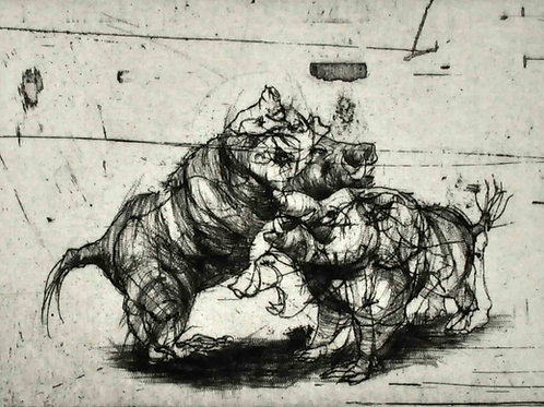 Wild Boars by Maite Cascón
