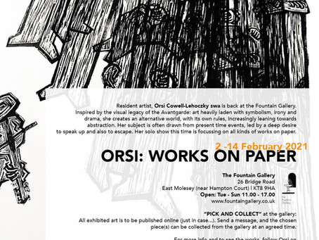 Solo exhibition launched 'ORSI: WORKS ON PAPER'