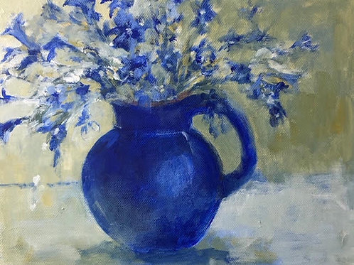 Blue Vase by Sue Jelly