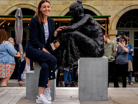 Anne Lister: 'Gentleman Jack' sculpture by Diane Lawrenson SWA, unveiled in Halifax