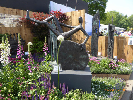 Helen Sinclair at the Chelsea Flower Show 2019