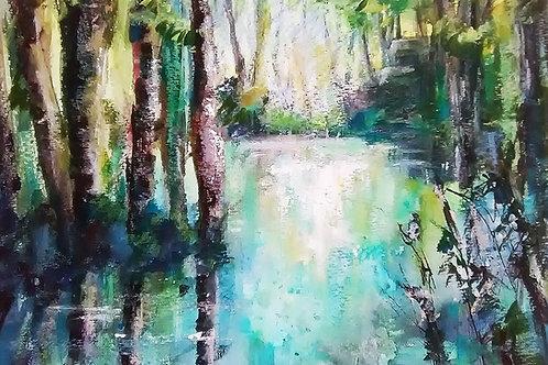 River Scene by Linda Zelin