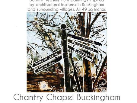Cathy  Reads 50 paintings of Buckinghamshire - Chantry Chapel Bucks 12th -15th April 2019
