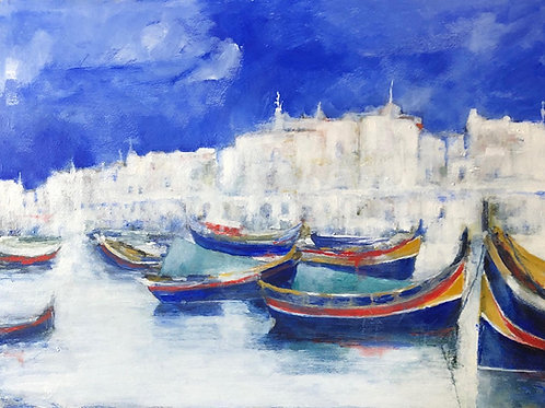 Marsaxlokk Harbour, Malta By Sue Jelley
