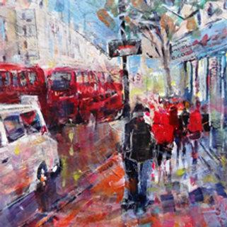 Busy London Traffic by Sera Knight