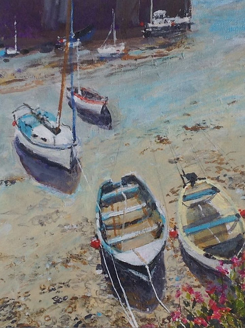 Padstow Boats by Mary Pelham