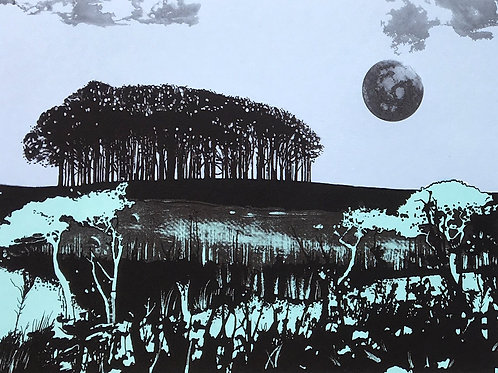 Seeking New Landscapes - Screen print No 5 - by Ruth McDonald