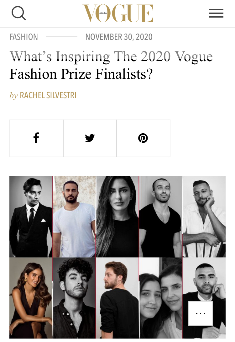 What's Inspiring The 2020 Vogue Fashion Prize Finalists?