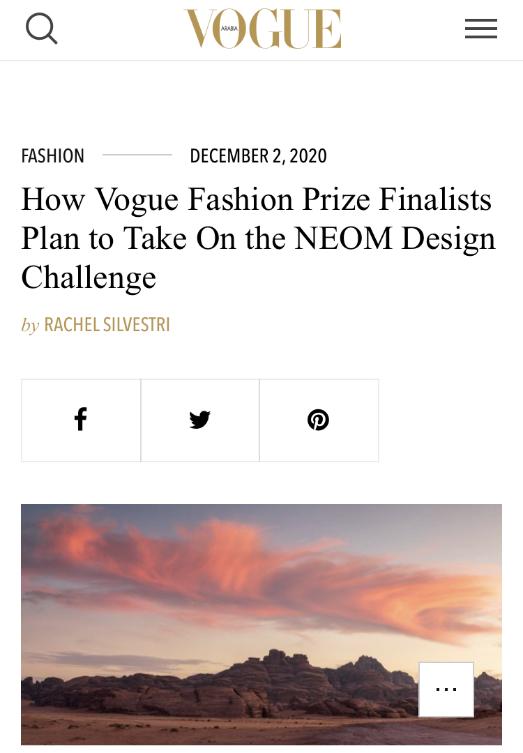 How Vogue Fashion Prize Finalists Plan to Take On the NEOM Design Challenge