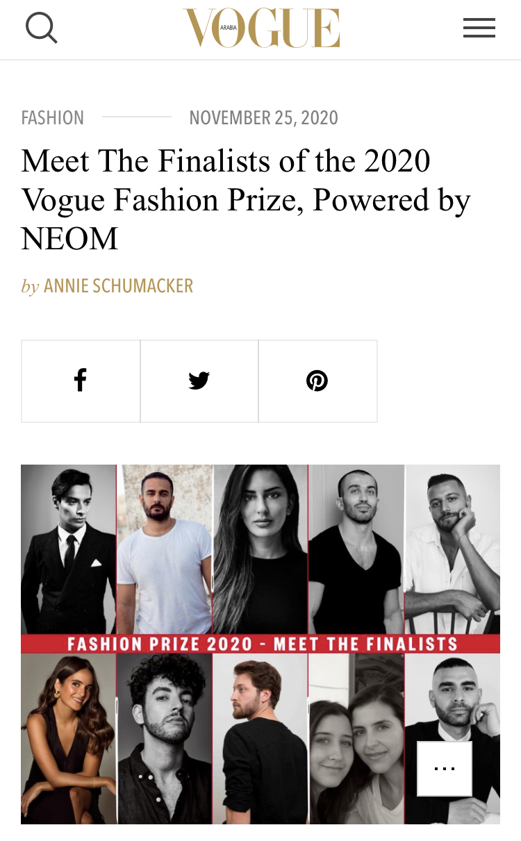 Meet The Finalists of the 2020 Vogue Fashion Prize, Powered by NEOM