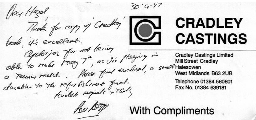 B050 Compliments [Cradley Castings]