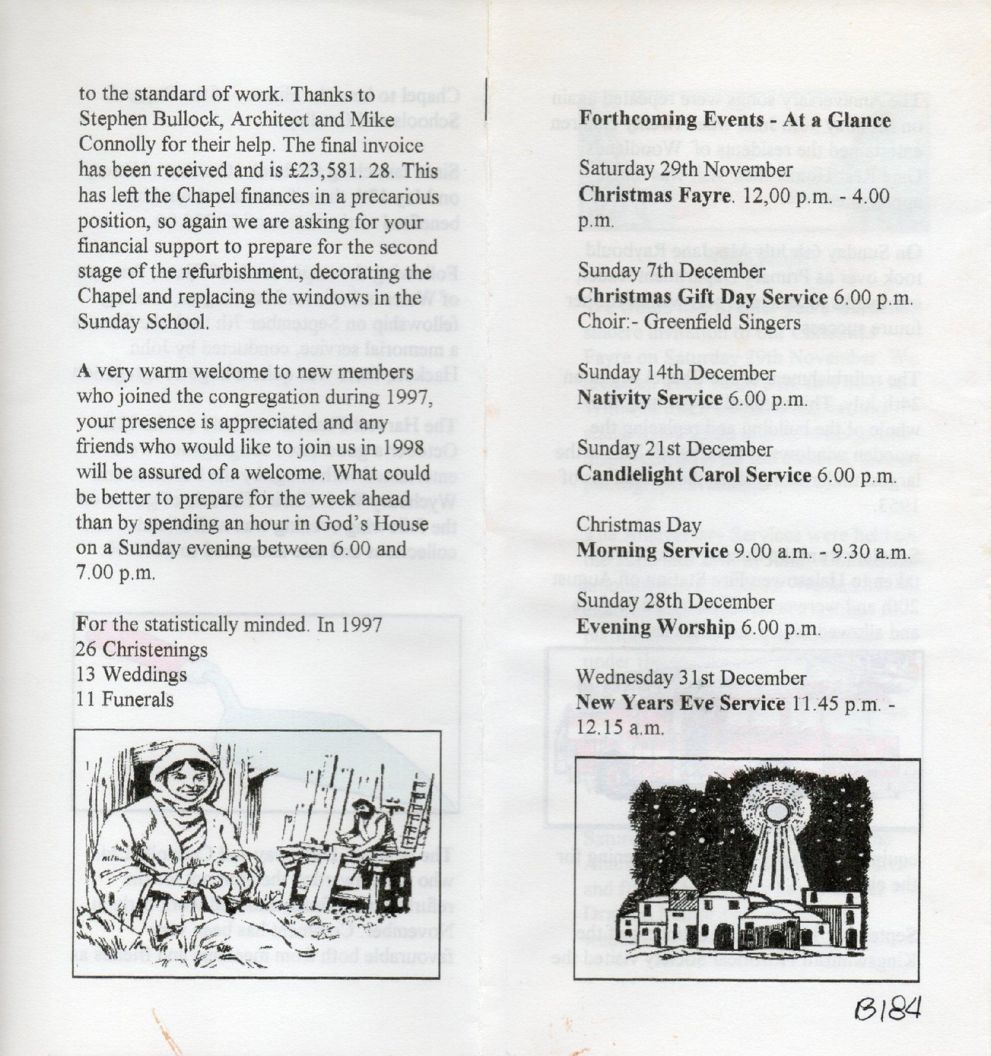 B184c Christmas 1997