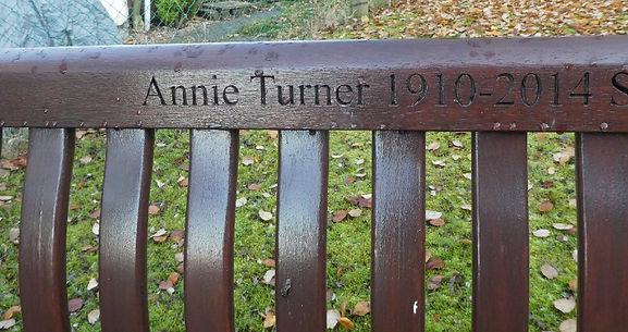 Annie Turner [1910 - 2014] bench