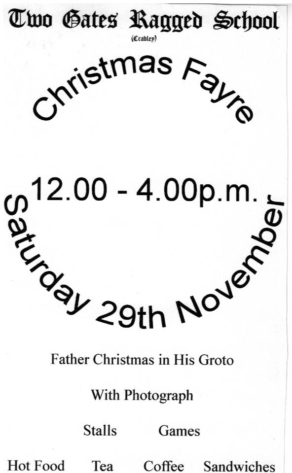 B172 Leaflet [Xmas Fair]Nov1997