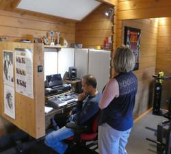 Tracey at Recording Studio