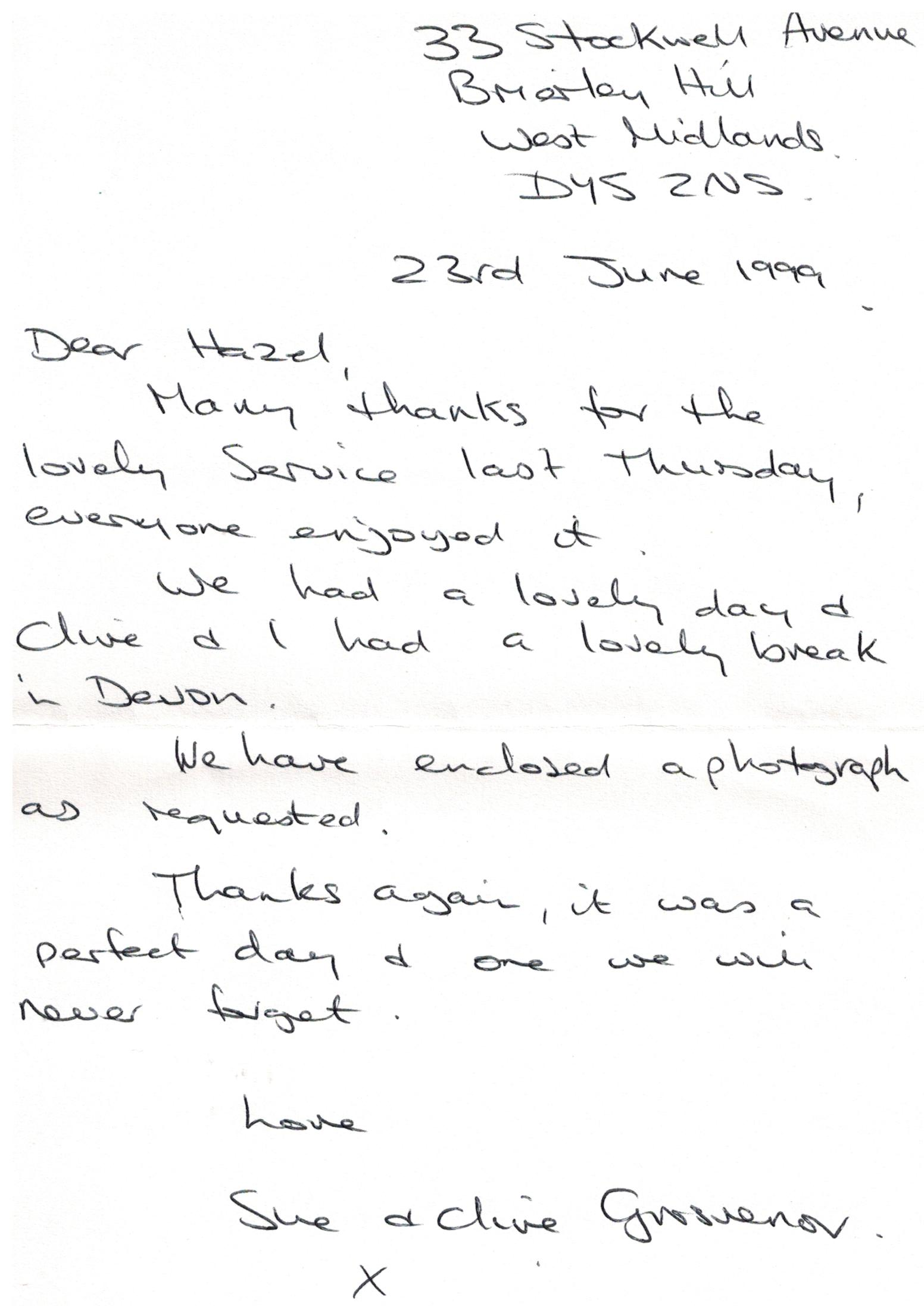 D031 Letter_Sue-and-Chris_GROSVENOR[23-06-99]