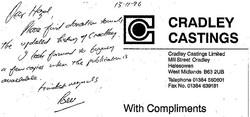 B039 Donation [Cradley Castings]