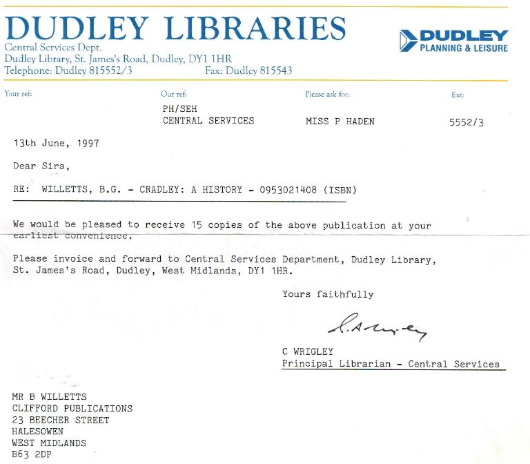 B076 Dudley Libraries [Book Order]