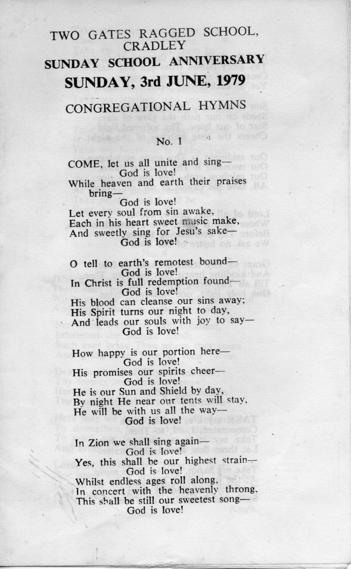 B203 Congregational Hymns[6]Anniversary-1979