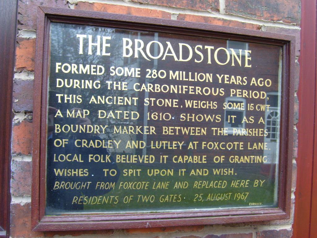 Broadstone Wall Plaque