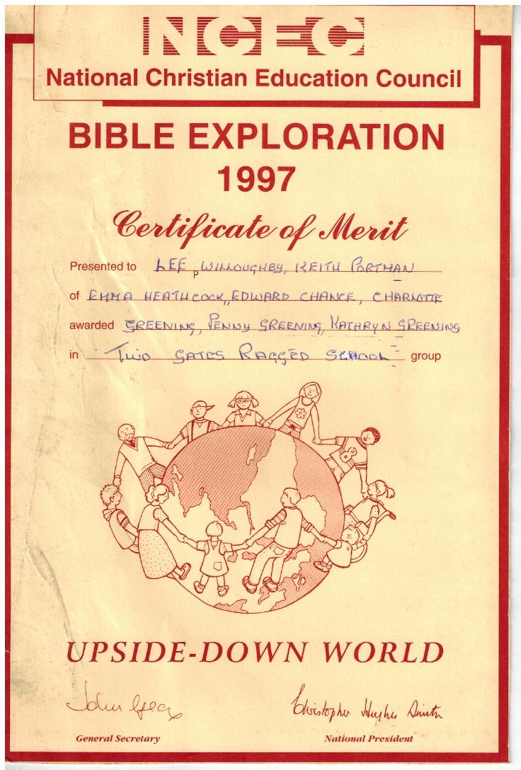 B197 Bible Exploration 1997