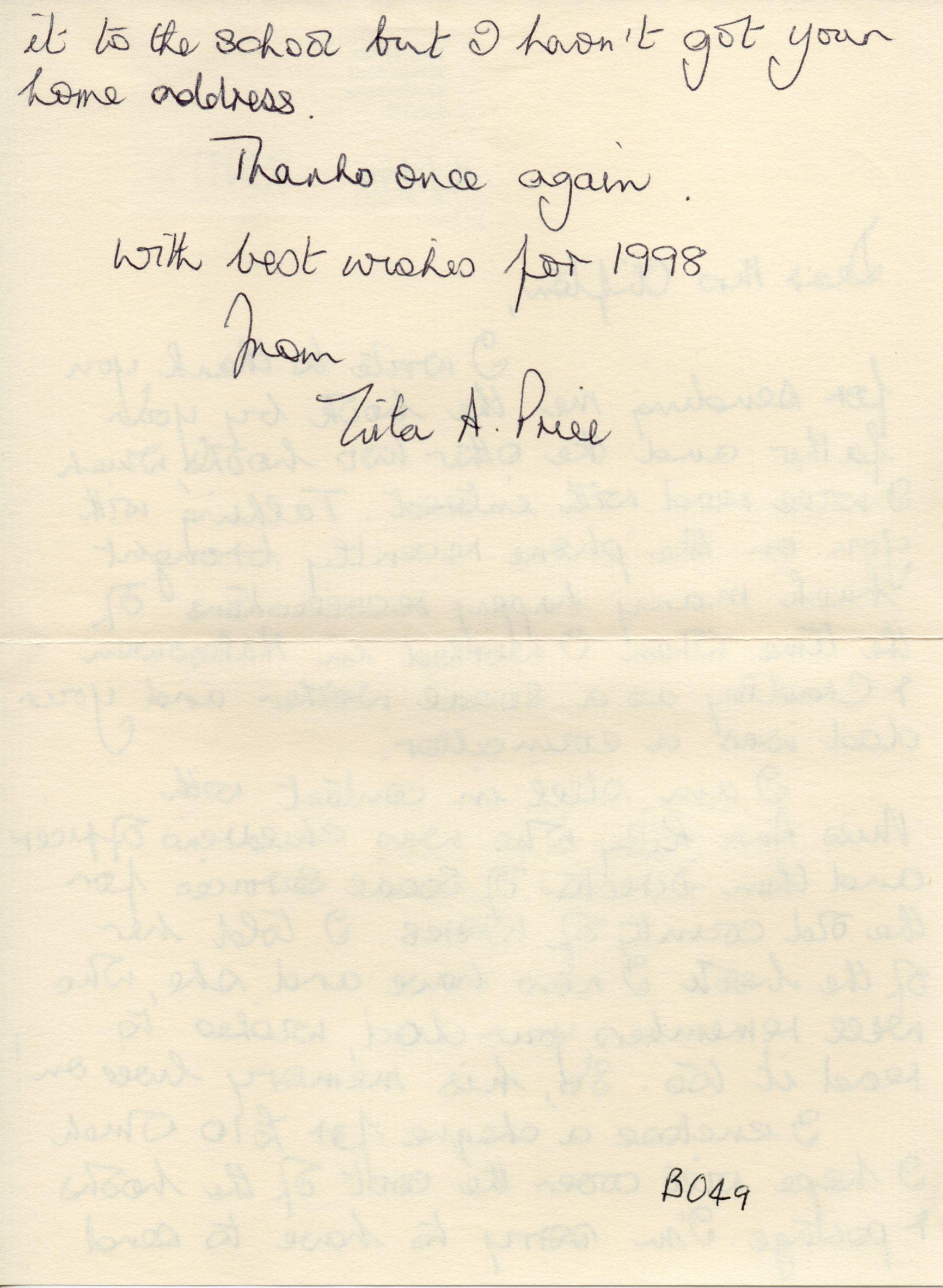 B049b Letter [Z-Price]1998