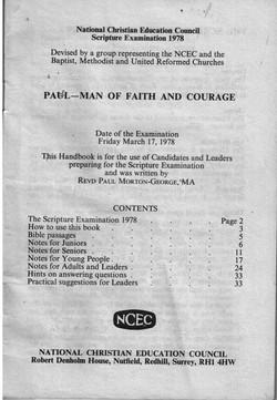 P050b_Paul[Man-of-faith-and-courage]Sctpt-Exam-[1978]