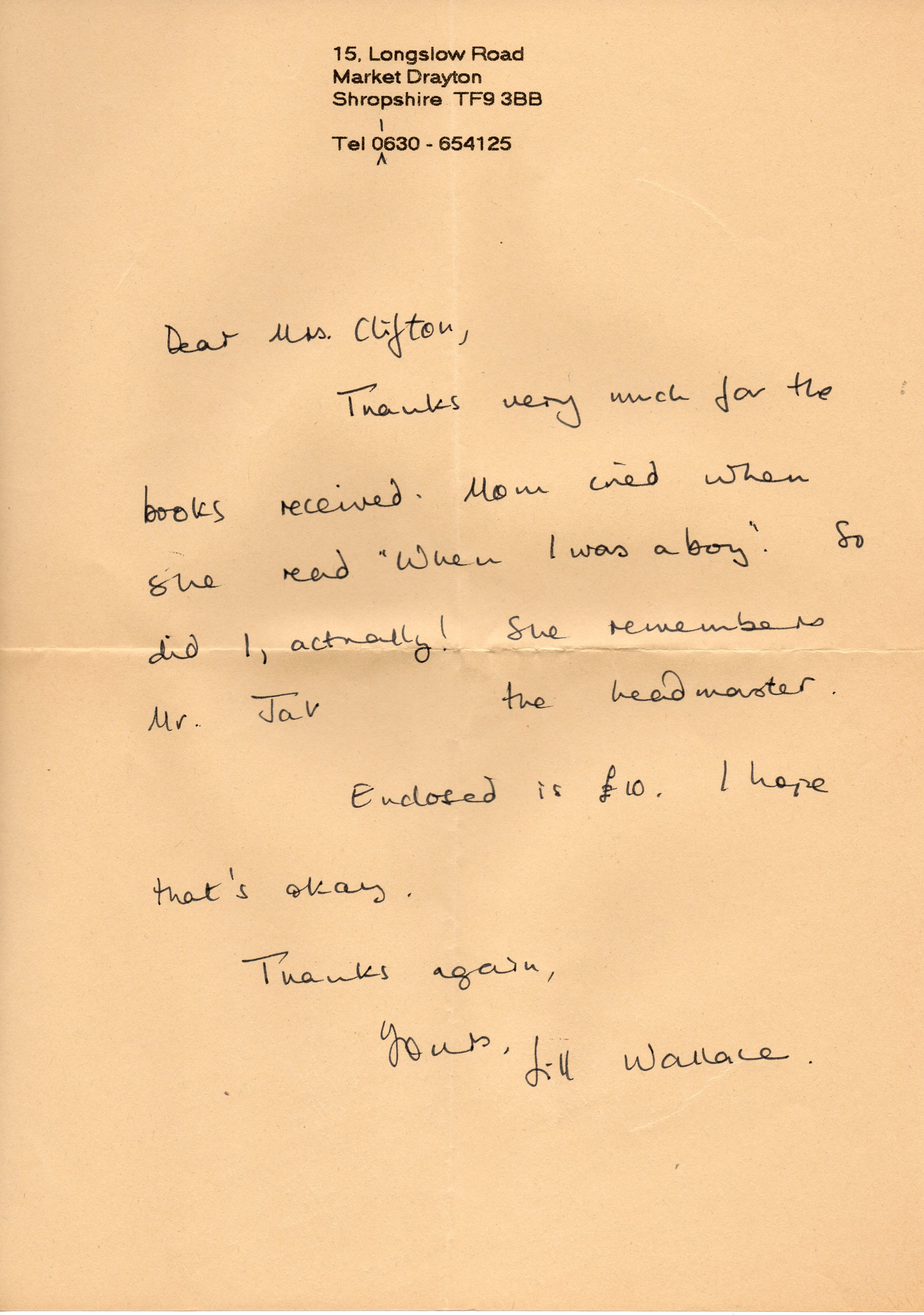 B077 Letter {Wallace]