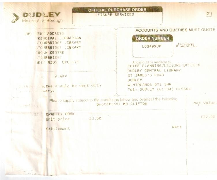 B075 Dudley Libraries [Purchase Order]