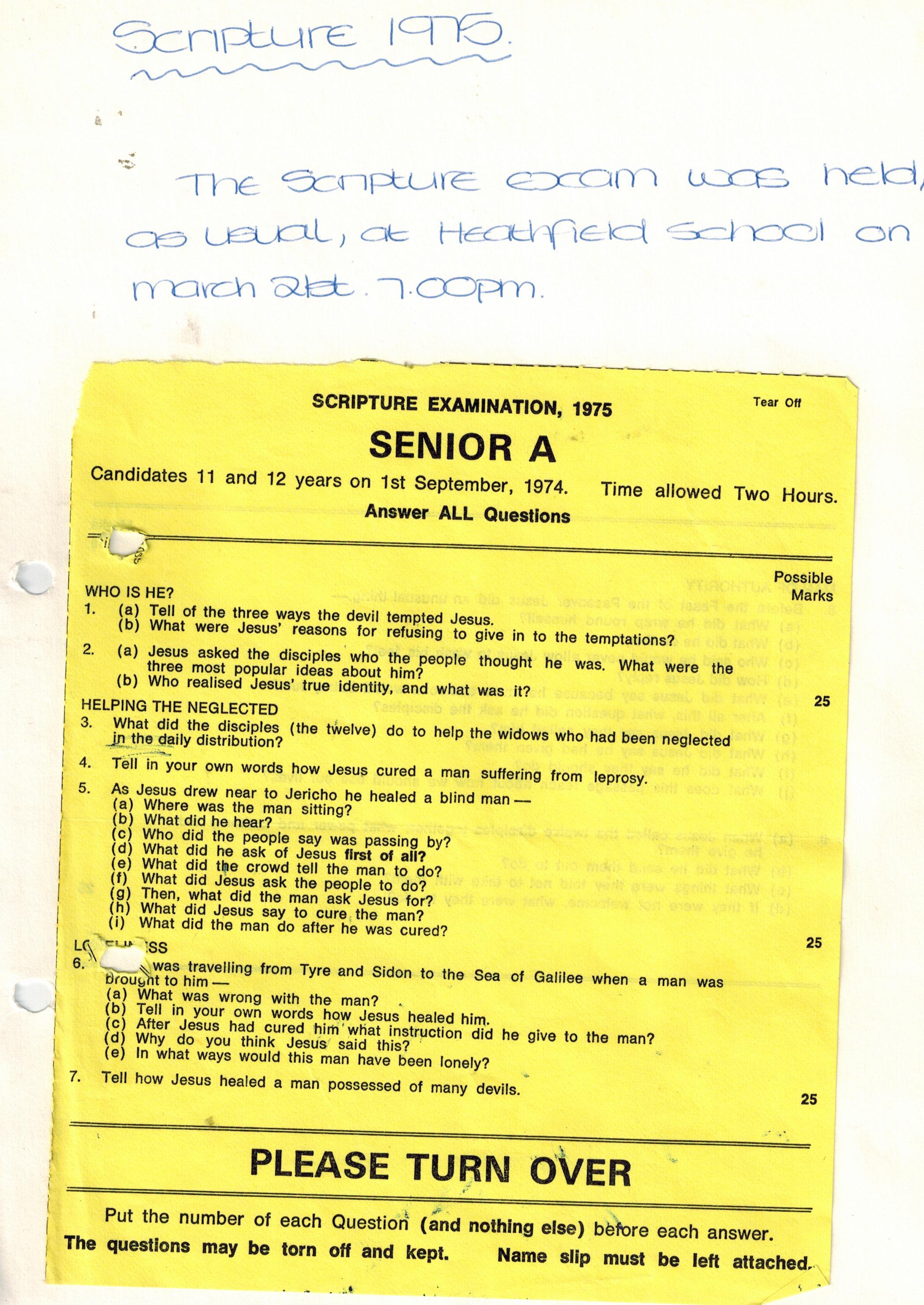 O175a_Scripture-Exam-[1975