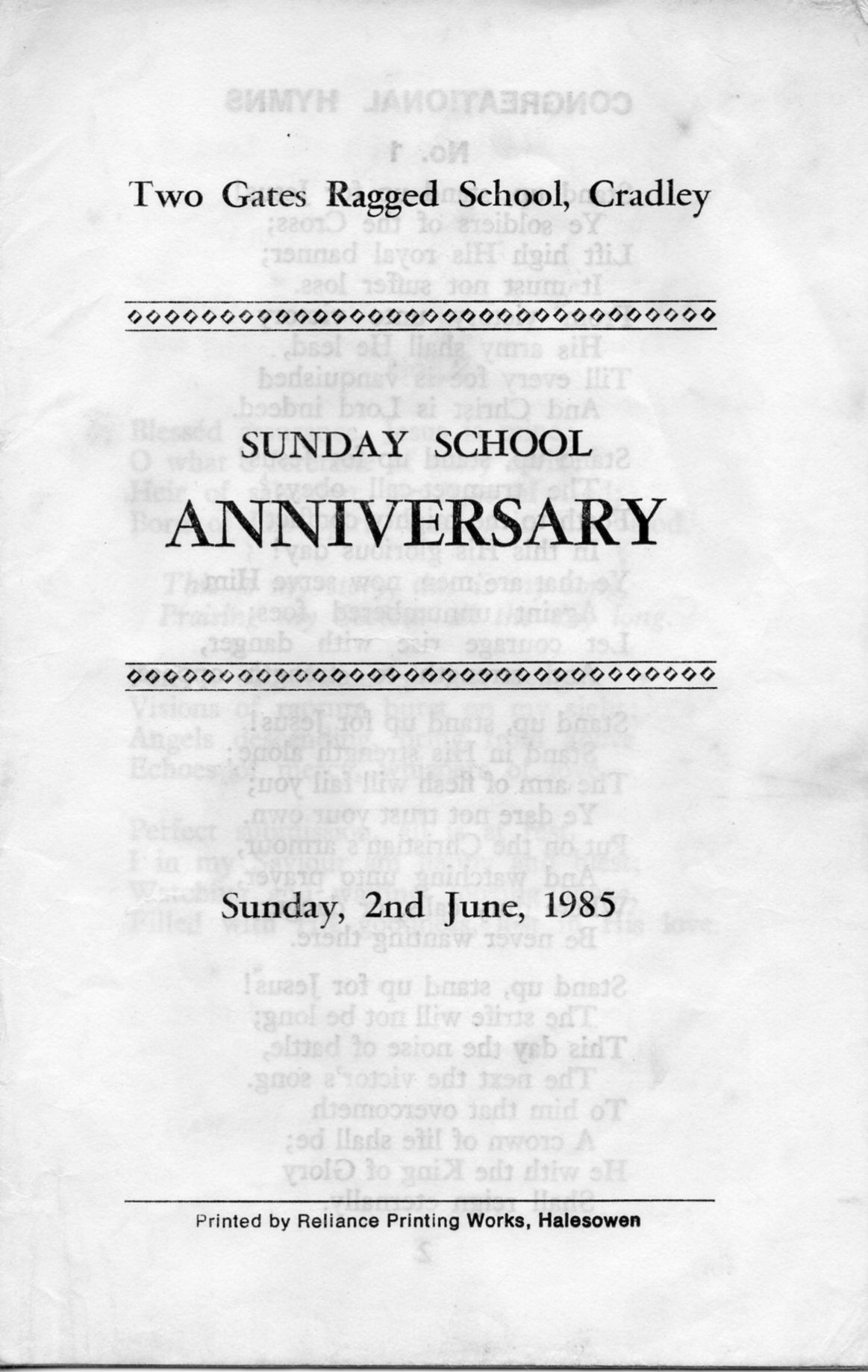 B205 Congregational Hymns[8]Anniversary-1985