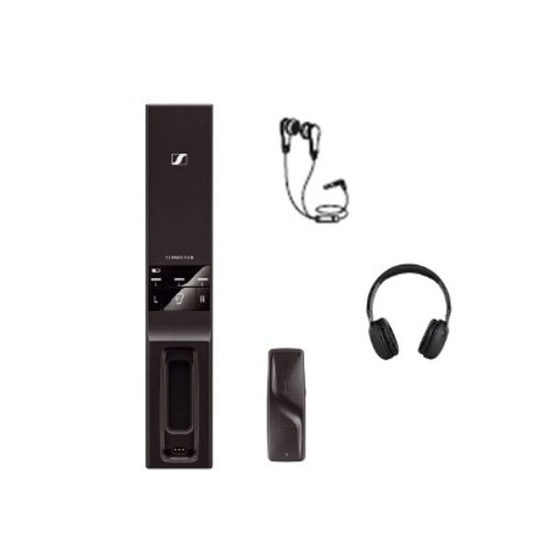Sennheiser TV Transmitter with your headphones or supplied earbuds