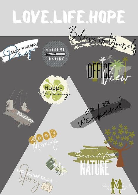Gepackt-Getan Story Sticker LOVE.LIFE.HOPE