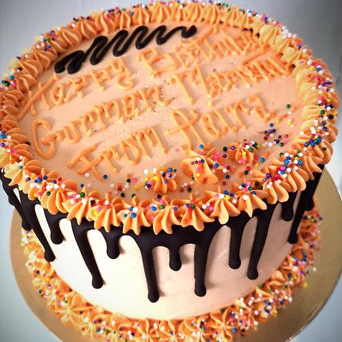 "GLUTEN FREE 6"" Classic Drip Cake   Feeds 4 - 8"