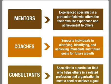 Consulting vs. Coaching vs Mentoring
