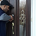 Our locksmith technician at site