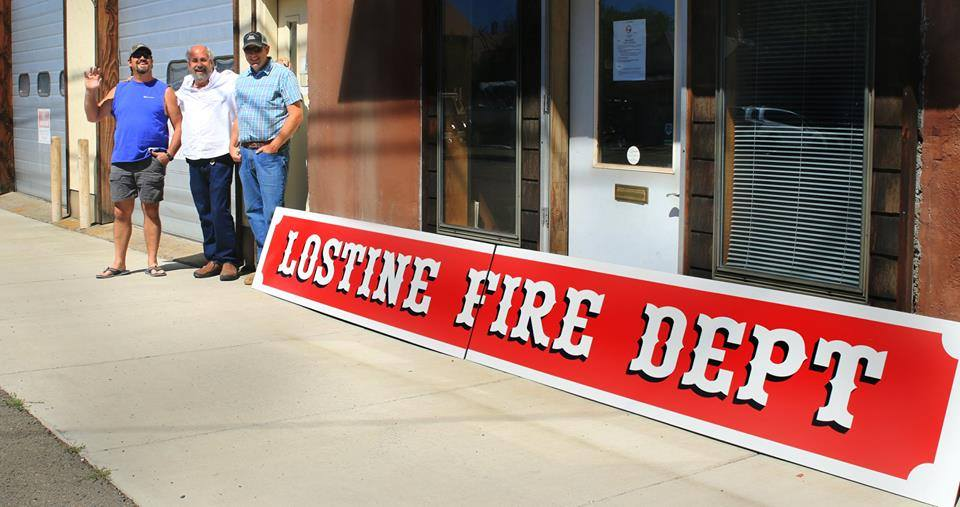 New fire house sign