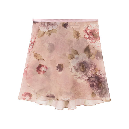 """Trienawear Ballet Dance Skirt #919 Alluring front view, 14"""" wrap with satin ribbon tie"""