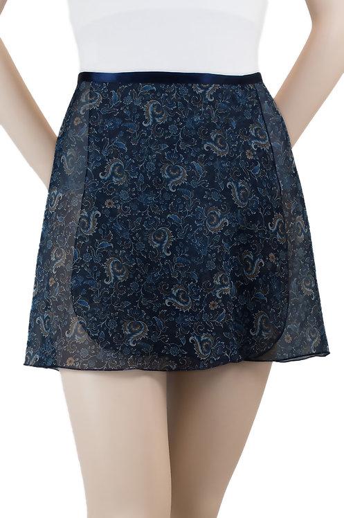 "#866 Cadenza - 14"" floral wrap skirt"