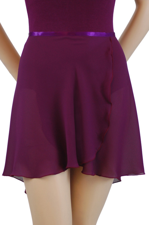 ad4ad6664 Tapered Ballet Wrap Skirt   Hi Lo Georgette Ballet Skirt   Trienawear®