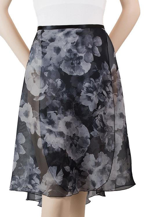 """Trienawear #871 Bourée 23"""" floral wrap ballet skirt - front"""