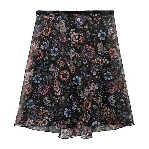 """Trienawear Ballet Dance Skirt #909 Celebração front view, 164"""" wrap with satin ribbon tie"""