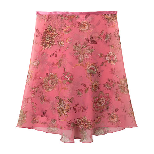 "Trienawear Ballet Dance Skirt #905 Bellezza front view, 16"" wrap with satin ribbon tie"