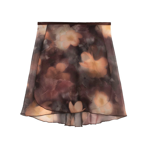 "Trienawear Ballet Dance Skirt #920 Dreamy front view, 14"" wrap with satin ribbon tie"