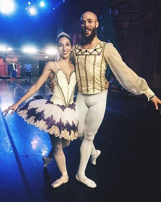 Beautiful, elegant, feminine Trienawear ballerina ambassador Mercedes Lozano as the Sugar Plum Fairy, the Nutcracker ballet