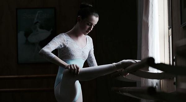 Beautiful, elegant, feminine Breana Drummond training to become a ballerina