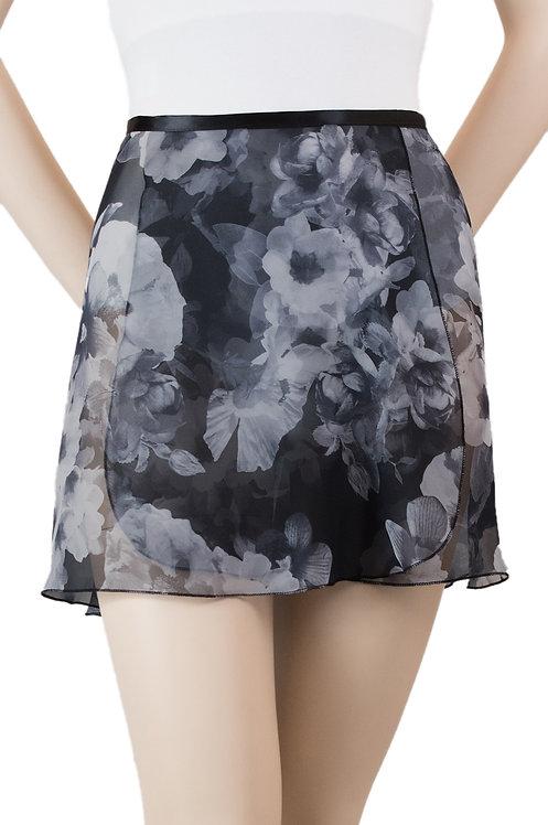 """Trienawear #871 Bourée 14"""" floral wrap ballet skirt - front"""
