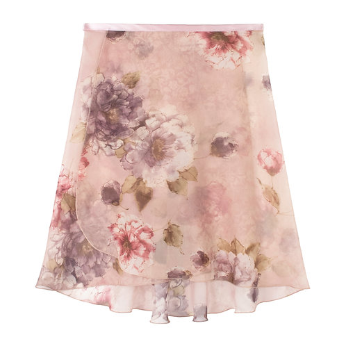 """Trienawear Ballet Dance Skirt #919 Alluring front view, 16"""" wrap with satin ribbon tie"""