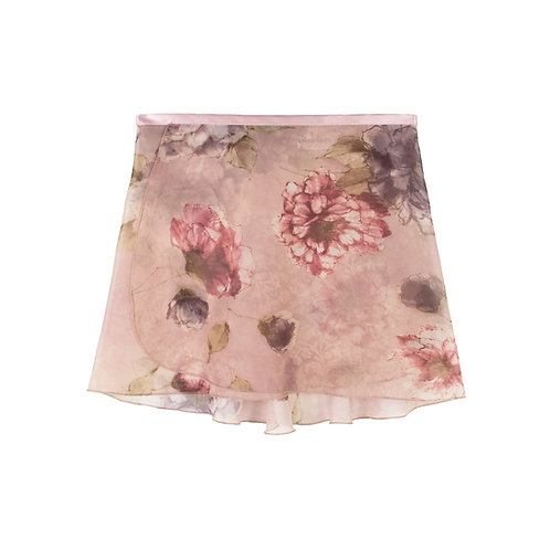 """Trienawear Ballet Dance Skirt #919 Alluring front view, 12"""" wrap with satin ribbon tie"""