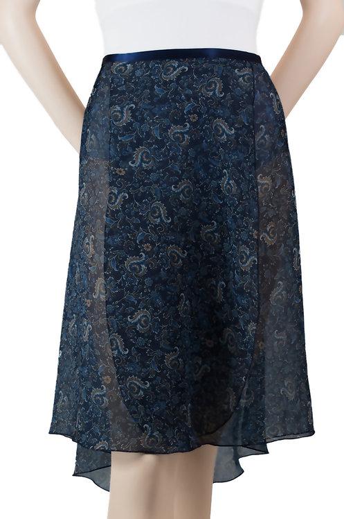 "Trienawear #866 Cadenza 23"" floral wrap ballet skirt - front"